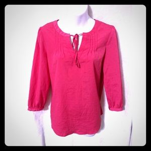 Elle pink long sleeve blouse size small
